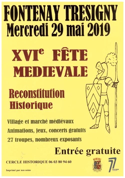 Calendrier Fete Medievale.Les Manifestations Du Cercle Historique Fontenaisien