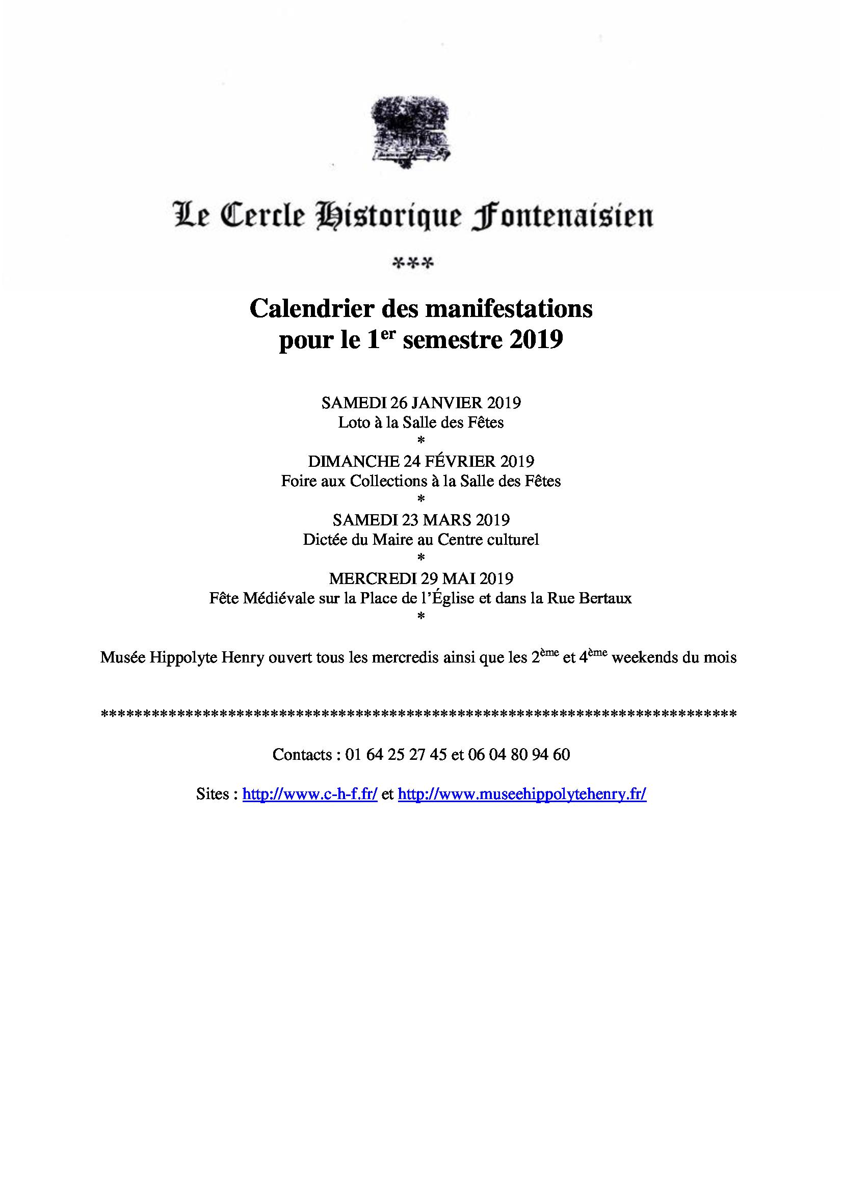 Calendrier Fetes Medievales.Les Manifestations Du Cercle Historique Fontenaisien